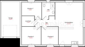 plan maison simple 3 chambres plan maison 80m2 3 chambres avie home