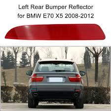 Bmw X5 Red - left rear bumper reflector red lens for bmw e70 x5 2008 2012 sales