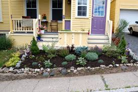 Small Rock Garden Design by Minimalist Small Rock Landscaping For Front Yard Design