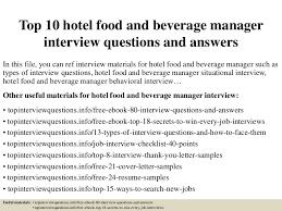 F B Manager Resume Sample by Top10hotelfoodandbeveragemanagerinterviewquestionsandanswers 150323080348 Conversion Gate01 Thumbnail 4 Jpg Cb U003d1427115886