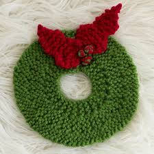 christmas wreath pad pattern wreaths patterns and knit crochet