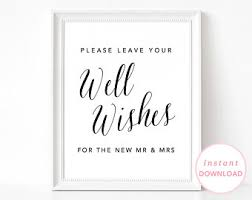 Wedding Wishes Guest Book Please Leave Us A Note Guestbook Sign Best Wishes Sign