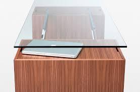 wooden desk glass contemporary homework bensen