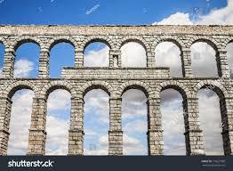 famous ancient aqueduct segovia castilla y stock photo 113621089
