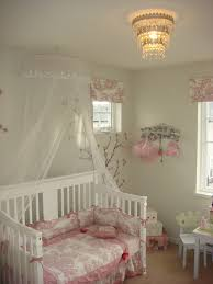 toile bedding in kids shabby chic with baby room next to