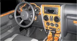 jeep islander interior jeep wrangler unlimited interior wood dash trim kit set 2007 07 2008