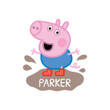 peppa pig george mud puddle easy move canvas decal wall decor