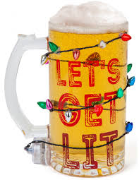 let u0027s get lit light up led holiday beer mug big mouth toys