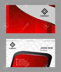card red business card template