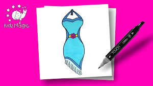 dress coloring page to learn colors drawing art for kids dress