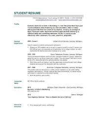 Fresher Resume Model Recent Graduate Resume Template Gfyork Com