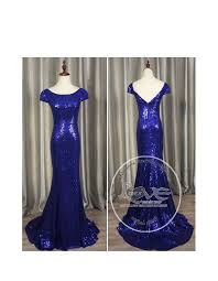 blue sequin bridesmaid dress gorgeous royal blue gold sparkly sequins prom bridesmaid dresses