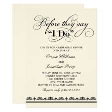 wedding rehearsal dinner invitation wedding vows zazzle