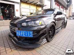 widebody evo mitsubishi evo x varis widebody style carbon front lip w diffuser
