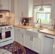 kitchen with white cabinets and wood countertops white kitchen countertops and cabinets inspirations