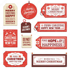 collection cardboard christmas tags and labels u2014 stock vector