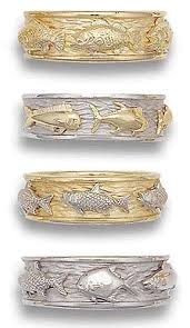 classic fish ring holder images Design your own three fish wedding ring jpg