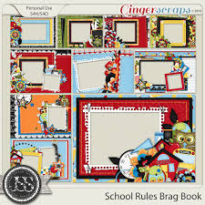 5x7 brag book gingerscraps pages and albums school 5x7 brag book