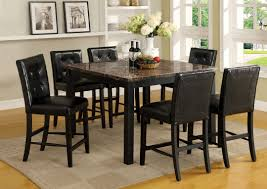 counter height marble top dining table with ideas image 1720 zenboa