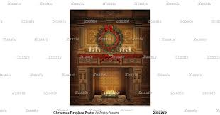christmas fireplace poster christmas tree scene by fireplace