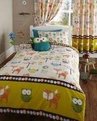 Buy Bedding Sets by Owl Theme Quilt Bedding Sets With Matching Curtains In White And