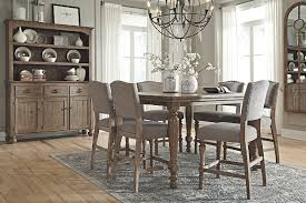 Tanshire Counter Height Dining Room Table Ashley Furniture HomeStore - Height of dining room table