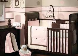 Pink Brown Crib Bedding Pink And Chocolate Baby Bedding B Pink And Brown Crib Bedding Sets