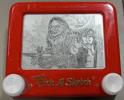 star wars recap drawn entirely on an etch a sketch giant freakin