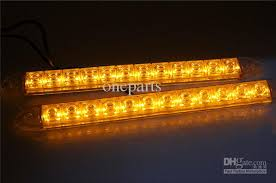 yellow led strip lights 2x 12 led flexible light strip with turning yellow amber light auto