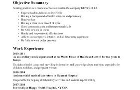 resume templates for medical assistants medical administrative assistant objective for resume exles