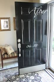 imperfectly beautiful red to black front door makeover i had the