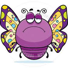 cartoon little butterfly sad by cory thoman toon vectors eps 4368
