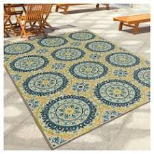 Threshold Indoor Outdoor Rug Threshold Indoor Outdoor Flatweave Medallion Cool Area Rug Turq