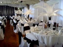 black and white wedding decor decorating of