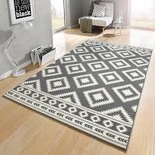 teppiche design designer velours teppich ethno grau creme 102410 teppiche design