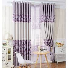 Purple Bedroom Curtains Blackout Polyester Fabric Purple Color Best Bedroom Curtains