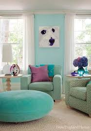 3 blue and green color schemes creating spectacular interior