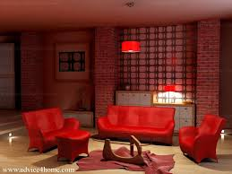 marvelous red living room set with awesome contemporary leather