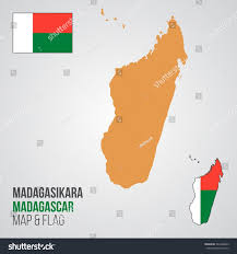 Madagascar Map Madagascar Map Flag Stock Vector 544408939 Shutterstock