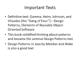 of four design patterns design patterns a brief introduction to what they are why they