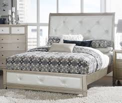 Tufted Sleigh Bed Homelegance Odelia Button Tufted Upholstered Sleigh Bed Silver