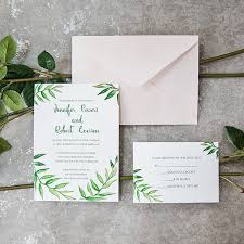 wedding invitations greenery greenery botanical wreath watercolor wedding