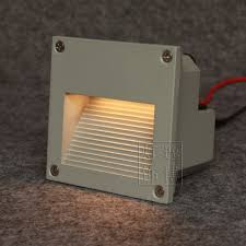 aluminum led terrace lights square outdoor stair step light