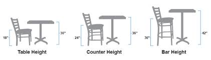 how tall are restaurant tables chairs u0026 bar stools
