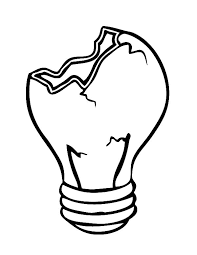 cracked light bulb coloring pages cracked light bulb coloring