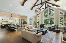 Backyard Living Room Ideas 30 Best Open Floor Plans For Life Without Walls Vaulted Ceilings