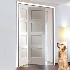 Shaker Style Exterior Doors by Freefold White Shaker 4 Panel Style Folding 2 Door Set Height