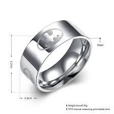batman engagement rings personalized batman logo men s titanium ring evermarker