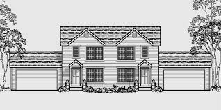 duplex house plans with basement duplex plans with 2 car garage