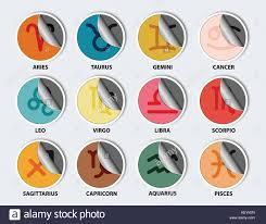 twelve astrological signs zodiac color stock photos u0026 twelve